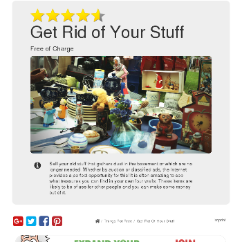 Get Rid of Your Stuff - Things for free