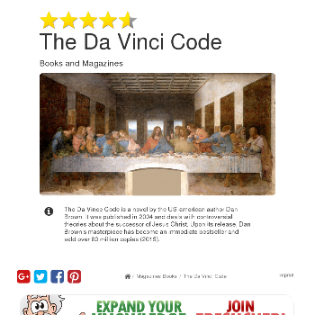 The Da Vinci Code - Magazines & Books