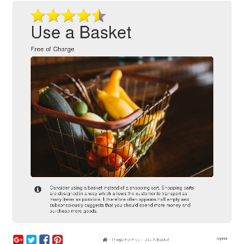 Use a Basket - Things for free