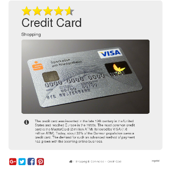 Credit Card - Shopping & E-Commerce