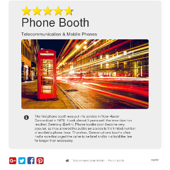 Phone Booth - Telecommunication & Mobile