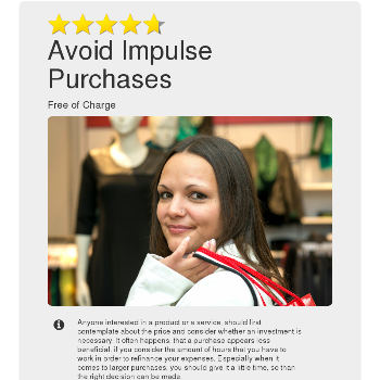 Avoid Impulse Purchases - Things for free