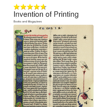 Invention of Printing - Magazines & Books