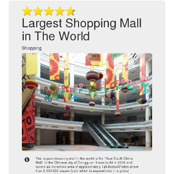 Largest Shopping Mall in The World - Shopping & E-Commerce