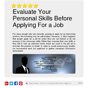 Evaluate Your Personal Skills Before Applying For a Job - Jobs & Business