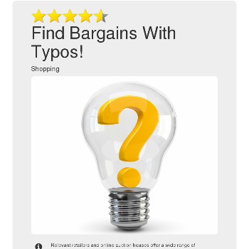 Find Bargains With Typos! - Shopping & E-Commerce