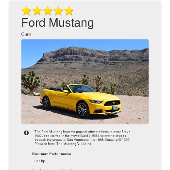 Ford Mustang - Car & Motorcycle