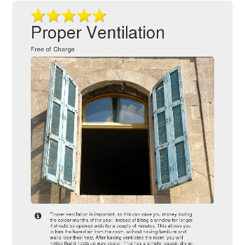 Proper Ventilation - Things for free