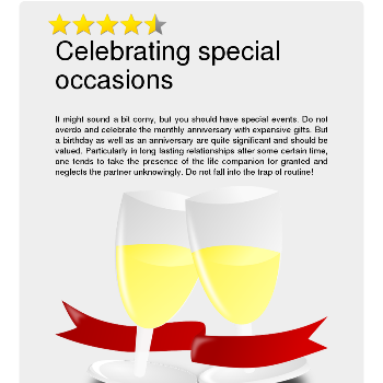 Celebrating special occasions - Flirt & Love