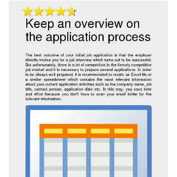 Keep an overview on the application process - Jobs & Business